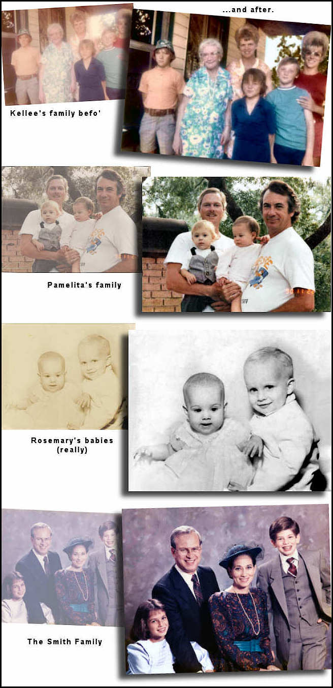 Photo Restoration and Clarification by smiledogproductions.com.  Photo Restore