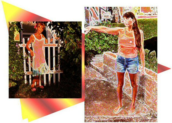Photo Restoration, Restore and Retouch. Artistic Effects - special effects, Elf & Kelly - Photo Restoration by SmileDogProductions.com