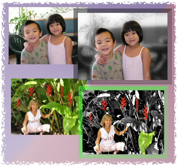 Photo Restoration, Restore and Retouch. Colorize Photo - add accent colors, Vivian-Jacky-Elf - Photo Restoration by SmileDogProductions.com